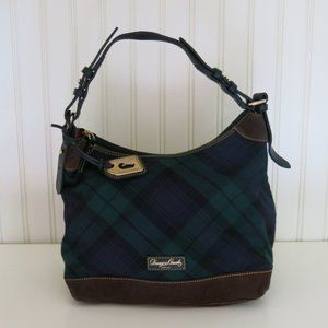 Dooney & Bourke Wool Tartan Hobo Purse